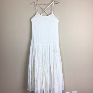 Anthropologie Mermaid Cream Maxi Dress S (658)